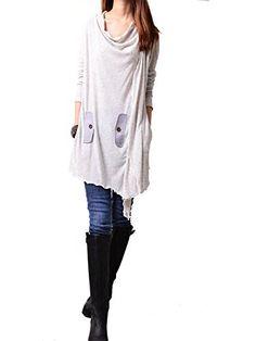 """Idea2lifestyle Women's Flowing Asymmetrical Tunic Dress """"Windflower"""" Dotty Off White, http://www.amazon.com/dp/B00UV5SFH4/ref=cm_sw_r_pi_awdm_Byu-wb01M25J1"""