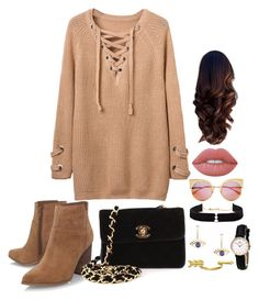 """""""💕"""" by ghita-ananda on Polyvore featuring Nine West, Chanel, Anissa Kermiche, Fendi, Gorjana and Lime Crime"""