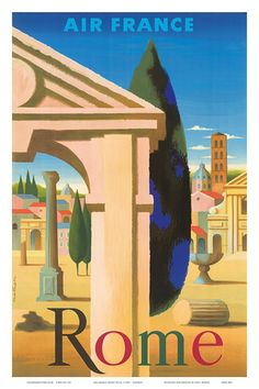 Air France Rome Villa, c.1957 Kunstdruk