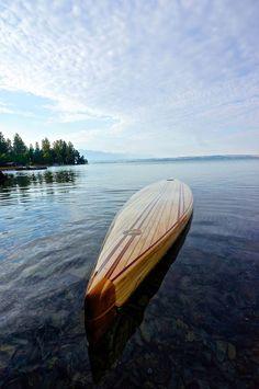 "Wood Surfboard Supply's ""The Catalina"" 14' Race SUP info@woodsurfboardsupply.com"