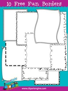 Free Page Borders Set - Personal and Commercial Use