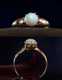 1890s Opal Ring, 10K Gold, Size 5 (sold)