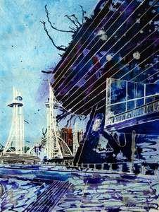 Artist: Cathy Read #architecture #mixed media  www.artsyshark.com