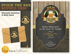 Stock The Bar Party Custom Printable  Convite Festa Boteco Chic  by Viva Print & Celebrate on Etsy