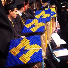 @uofmichigan Block Ms at graduation!