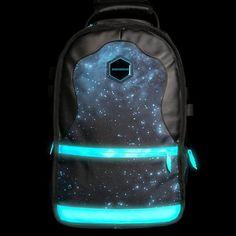 Fancy - Gammaxy Glow-in-the-dark Backpack by Sprayground :: pppppreeeeetttttyyyyy and good for bike ppl