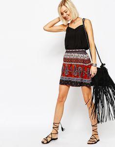 Vero Moda Mixed Print Skater Skirt