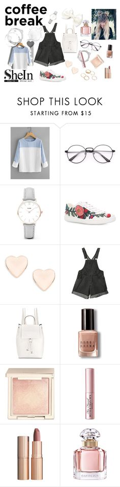 """""""Coffee Break"""" by raluu9 ❤ liked on Polyvore featuring CLUSE, Gucci, Ted Baker, French Connection, Bobbi Brown Cosmetics, Jouer, Too Faced Cosmetics, Charlotte Tilbury, Guerlain and Sheinside"""