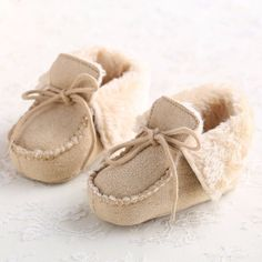 These Fluffy Fur Loafers will keep your baby warm and adorable. This item will make a great and unique addition to your little one's wardrobe. 100% washable created with durable fabrics. Comfortable n