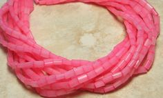 5x3mm Coral Alabaster Sol Gel Colorfast Czech by beadsandbabble, $0.99