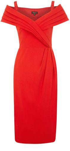 Perfect for Navidad , Crepe Bardot Dress - Lyst  jaglady