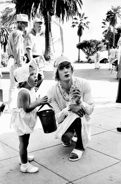 Tony Curtis and his daughter Kelly on the set of Some Like It Hot (1959)