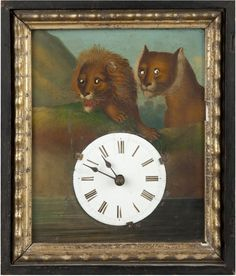 Paddle8: Lacquered sheet-iron wall clock - 19th Century