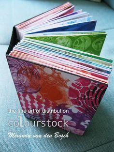 Booklet from gelli prints Gelli Plate Printing, Gelli Arts, Mini Album Tutorial, Plate Art, Art Journal Inspiration, Journal Ideas, Handmade Books, Book Binding, Book Crafts