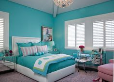 platform beds with storage Bedroom Transitional with chaise girl& room mirr. platform beds with storage Bedroom Transitional with chaise girl& room mirrored furniture shag studs teenage turquoise upholstered headboard vanity - Girls Room Furniture Small Room Bedroom, Bedroom Colors, Home Decor Bedroom, Bedroom Wall, Small Rooms, Purple Bedrooms, Bedroom Beach, Bedroom Curtains, Bedroom Themes
