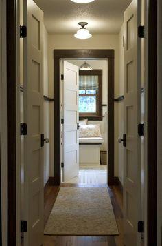 white doors dark trim