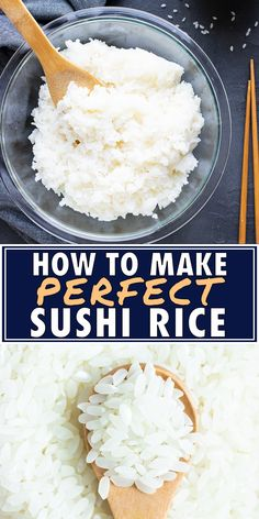 How to Make Sushi Rice (Perfect Sushi Rice Recipe!) Evolving Table : Learn How to Make Sushi Rice with short grain rice, rice vinegar, and a little bit of sugar for sushi rolls or sushi bowls. This easy sushi rice recipe can be made on the stovetop, in Perfect Sushi Rice Recipe, Sushi Rice Recipes, Rice For Sushi, Best Sushi Rice, Sushi In A Bowl, Sushi Sushi, Vegetarian Sushi Rolls, Making Sushi Rice, Sushi Rice Rice Cooker Recipe