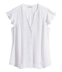 Butterfly-sleeve Blouse | H&M US