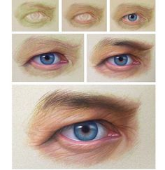 """Eye Study"" Credit - Materials used: CarbOthello Pastel pencils Pastel Drawing, Pastel Art, Drawing Lessons, Drawing Techniques, Pencil Portrait, Portrait Art, Sketch Painting, Painting & Drawing, Realistic Eye Drawing"