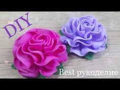 Delicate roses from foamirana. DIY / MK Easy way. Giant Paper Flowers, Fake Flowers, Diy Flowers, Fabric Flowers, Flowers In Hair, Felt Crafts Diy, Ribbon Crafts, Foam Crafts, Flower Crafts