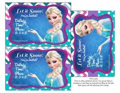 Free Disney Frozen Printable Party Decorations