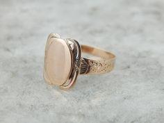 Antique Rose Gold Ladies Signet Ring For Engraving NWDAYZ-N