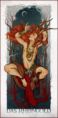 Das Rheingold, ovvero L'oro del Reno, è il primo capitolo della saga L'Anello del Nibelungo, composta da Richard Wagner, che narra le eroiche vicende di Sigfrido e della stirpe di Odino. - MEET MYTHS -