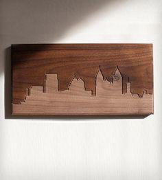 Atlanta Skyline Wood Art  $50