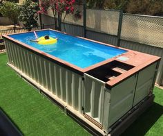 Shipping Container Pools More