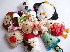 small handmade felt christmas decoration by paper-and-string | notonthehighstreet.com