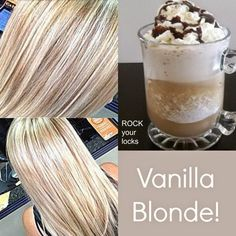 I wouldn't mind having this perfect vanilla blonde color :( Love cooler toned blonde hair
