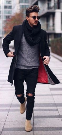 5 Fall Winter Essentials For Men Who Like Being Warm But Fashionable. What do men need to be fashionable during the fall and winter? These five items are all you need to create an amazing outfit. Stylish and edgy casual winter fall outfits for men. Casual Winter Outfits, Winter Fashion Outfits, Autumn Fashion, Fashion Ideas, Fashion Trends, Fashion Advice, Fashion Blogs, Fashion Mode, Fashion Night