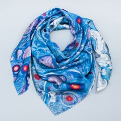 Histology Silk Scarf Scalp by Emily Evans available at the Street Anatomy Store