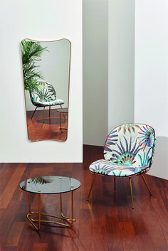 GUBI // Beetle Lounge Chair, Matégot Lounge Table and FA33 Mirror