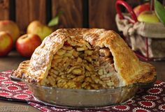 This Mile High Apple Pie is packed with fresh apples! Five pounds of apples are layered inside a buttery, flaky crust. You will love it!