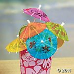 Cocktail umbrellas, $5/12 dozen