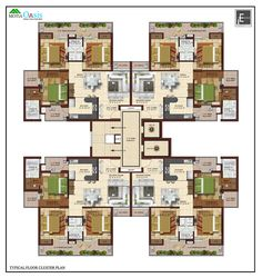 Ideas To Help You Achieve Your Home Improvement Goals Home Design Floor Plans, Architectural Design House Plans, Plan Design, House Floor Plans, The Plan, How To Plan, Residential Building Plan, Habitat Collectif, Flat Plan