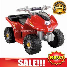 Ride on Power Wheels Battery Electric Car Quad ATV 4 Wheeler Toy Kid Toddler Boy | eBay