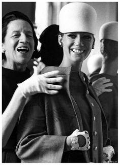 Marisa Berenson and Diana Vreeland photographed by James Karales