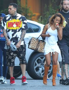 Making up for lost time: Chris Brown was once again spotted with his model beau, Karrueche Tran, as the pair made their way out of The SLS H...