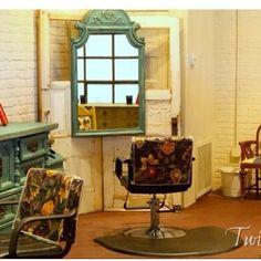 Love this idea, vintage beauty shop.