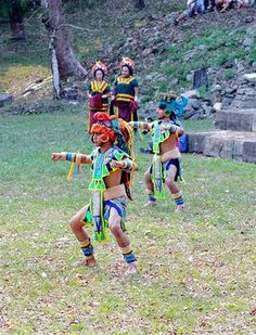 Maya Apocolypse Celebrate! Dancers from Quintana Roo perform at the Maya ruins at Lubantuun. (Photo: James Picht)