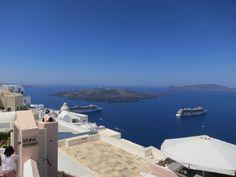 View from Santo Winery, Santorini, Greece