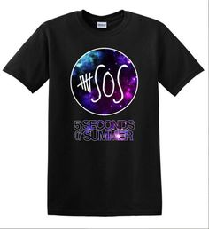 5 Seconds of Summer shirt 5SOS Galaxy Tshirt SOS by CustomStylesLB