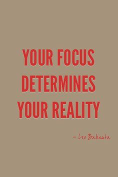 Note to self: FOCUS...On your priorities!!!!