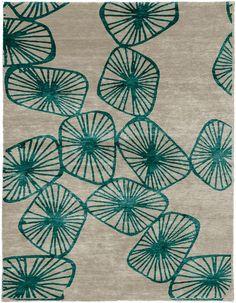 Alfombra hecha a mano de seda de estilo moderno a medida con motivos Charleston Hand Knotted Tibetan Rug Colección Christopher Fareed Signature by ModernRugs.com | diseño Christopher Fareed