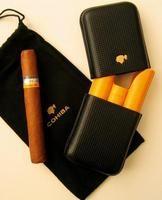 Cohiba Cigarrenetui 3er Zigarrenetui (schwarz, innen gelb) für Siglo VI (6999030)