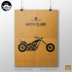 Seu pai faz o estilo motoqueiro? Ele vai adorar esse pôster! #eudecorei #decor #poster #design #diadospais #instacool #arte #instaarte #decoracao #home #instahome #interiores #motoclube Compre aqui: www.eudecorei.com.br/Moto-Clube