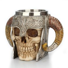 BEER HALLOWEEN NEW 2019 Stainless Steel Skull Coffee Drinking Cup Resin Tea Tankard Mug Beer Party condition. This Mug is made of high quality resin and stainless steel with a realistic skull design. Drinking Glass, Drinking Tea, Coffee Cups, Tea Cups, Drinking Games For Parties, Christmas Cup, Stainless Steel Coffee Mugs, Creative Coffee, Girly