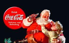 Coca-Cola's Iconic Santa Claus Ads by Haddon Sundblom #archives